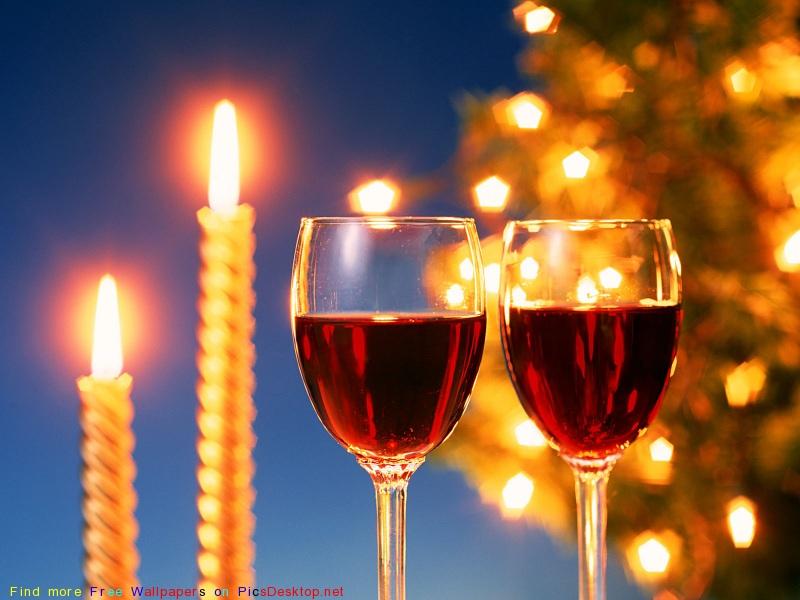 Бокалы, Новый год, праздники 1400х1050